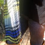 etole ariane jaune bleu hiver couleur 150x150 - Étole - ARIANE