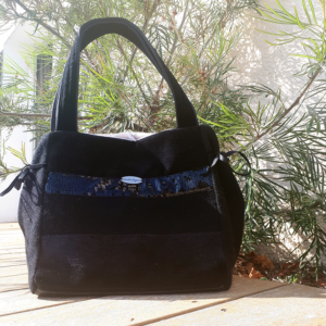 sac de ville muse noir paillettes anses 300x300 - Sac de ville - MUSE