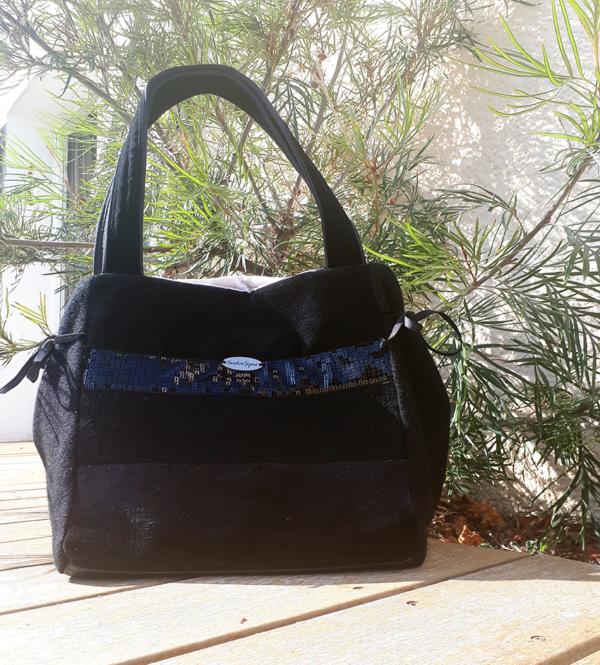 sac de ville muse noir paillettes anses 600x665 - Sac de ville - MUSE