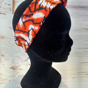 Bandeau en wax orange et blanc 300x300 - Collection Automne Hiver