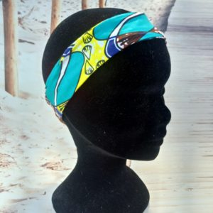 Bandeau en wax vert canard 1 300x300 - Collection Automne Hiver