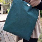 Cabas vert emeraude MIA porte 150x150 - Cabas vert émeraude MIA