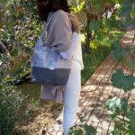 Diane sac de ville gris et argente a lepaule 150x150 - Sac de ville - DIANE