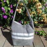 Diane sac de ville gris et argente de dos 150x150 - Sac de ville - DIANE