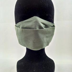 masque en tissu kaki , confortable et respirable, bon pour la planète