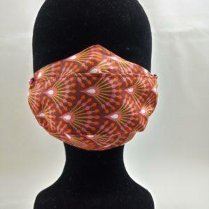 Masque en tissu aux tons chauds, confortable, lavable et réutilisable