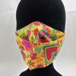 Masques en tissu fleuri jaune et orange 150x150 - Masque en tissu fleuri jaune et orangé