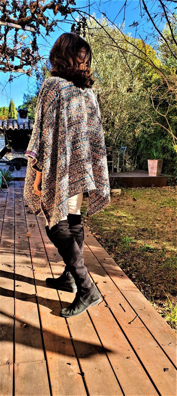 Kimoncho AGATHE, à porter avec un pull, sur une veste , ou encore sur une robe , pièce unique de créateur