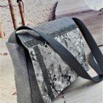 Sac bandouliere gris Kate de profil 1 150x150 - Sac bandoulière gris KATE