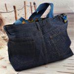 Sac en jean brut bleu Cleo de dos 150x150 - Sac en jean brut bleu CLEO
