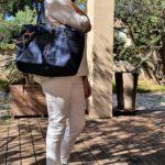Sac en jean brut bleu Cleo porte 150x150 - Sac en jean brut bleu CLEO