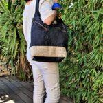 Sac en jean noir et beige Kalinka a lepaule 150x150 - Sac en jean noir et beige KALINKA
