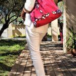 Sac en jean rose et wax Coralie a lepaule 150x150 - Sac en jean rose et wax CORALIE