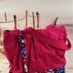 Sac en jean rose et wax Coralie de face 150x150 - Sac en jean rose et wax CORALIE