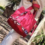 Sac en jean rose et wax Coralie en mouvement 150x150 - Sac en jean rose et wax CORALIE