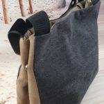 Sac graphique noir et camel EMMA de dos 150x150 - Sac graphique noir et Camel EMMA