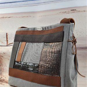 Sac graphique gris et camel MATHILDE 300x300 - Collection Automne Hiver